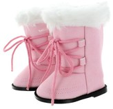 "Pink Butterfly Closet Doll Shoes - Snow Light Pink Boots Fits American Girl & Other 18"" Inch Dolls"