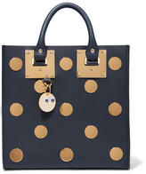 Sophie Hulme Albion Square Embellished Leather Tote - Navy