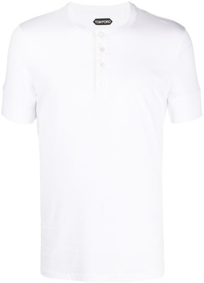 Tom Ford Collarless Polo Shirt