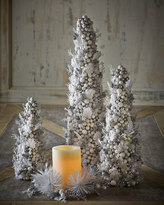 "Salzburg Creations White & Silver Fireworks 18"" Cone Tree"