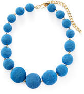 Kenneth Jay Lane Women's Thread Matte Wrapped Ball Station Necklace