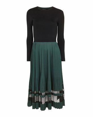 Ted Baker Scarlah Knitted Mockable Long Sleeve Midi Dress