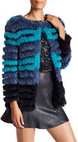 Custo Barcelona Genuine Rabbit Fur Print Jacket