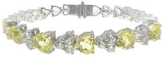 """Judith Ripka Sterling Gemstone Heart Tennis Bracelet, 7-3/4"""""""