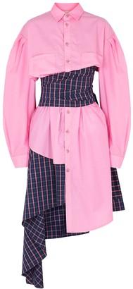 Natasha Zinko Pink asymmetric cotton shirt dress