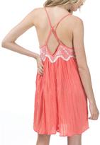 Bow & Arrow Grapefruit Pink Sleeveless Shift Dress