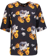 Theory Antazie Floral-Print Silk Top
