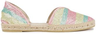 Manebi Hamptons Glittered Striped Lurex Espadrilles