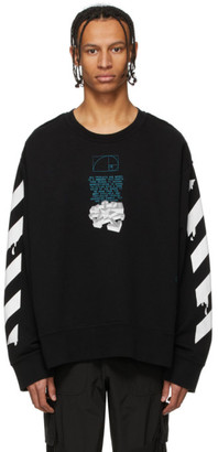 Off-White Black and White Dripping Arrows Sweatshirt