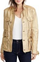 Lauren Ralph Lauren Metallic Leather Utility Jacket