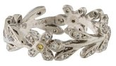 Cathy Waterman Platinum Diamond Flower Vine Ring
