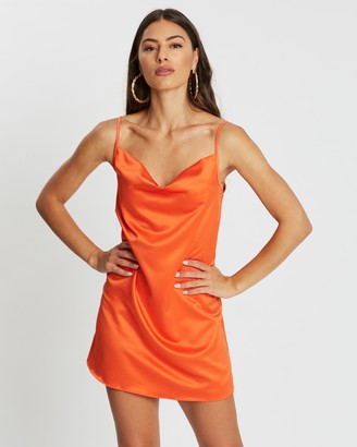 Missguided Satin Cowl Cami Dress