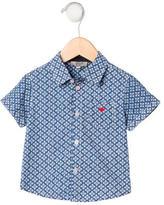 Armani Junior Boys' Floral Print Button-Up Shirt