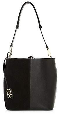 Stuart Weitzman Women's 5050 Leather & Suede Bucket Bag
