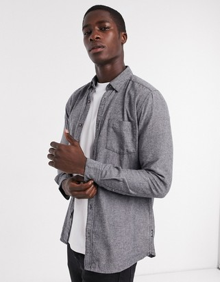 ONLY & SONS shirt in brushed gray
