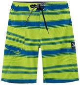 Volcom Junior Green Stripe Stone Mod Boardshort