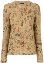 Etro patterned crew neck sweater