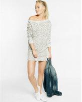 Express off the shoulder jacquard leopard print dress