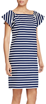 Lauren Ralph Lauren Striped Casual Shift Dress, True Indigo/White
