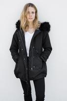 Breezy Faux Fur Trim Hooded Parka
