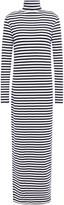Ninety Percent Striped Stretch Tencel-jersey Turtleneck Maxi Dress