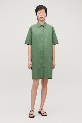 Cos Organic-Cotton Shirt Dress