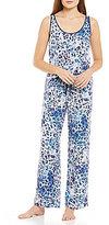 Josie Serengeti Animal-Print Twill Pajama Set