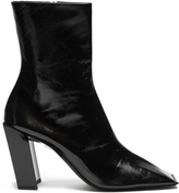 Balenciaga Quadro square-toe leather boots