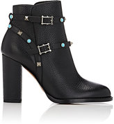 Valentino Women's Rockstud Rolling Ankle Boots