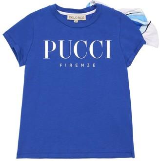 Emilio Pucci Logo Print Cotton Jersey T-Shirt