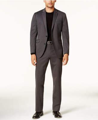 Kenneth Cole Reaction Men Slim-Fit Charcoal Knit Ready Flex Suit