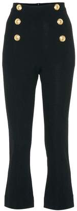 Balmain Stretch jersey flared cropped pants