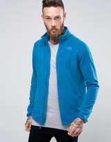The North Face 100 Glacier Full Zip Fleece In Blue