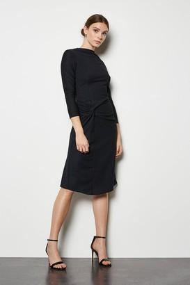 Karen Millen Drape Textured Jersey Dress