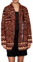 Free People Pattern Faux Fur Coat