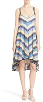 Milly Women's 'Lolette' Chevon Pattern Strappy Cotton A-Line Dress