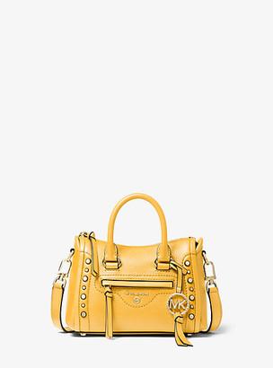 Michael Kors Carine Extra-Small Studded Pebbled Leather Crossbody Bag