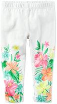Carter's Floral-Print Capri Pants, Little Girls (2-6X) & Big Girls (7-16)