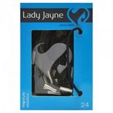 Lady Jayne Elastics, Thin, Black 24 pack
