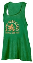 NCAA Miami Hurricanes Women's Scoop Neck Racerback Tunic Tank Top