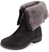 UGG Arquette Waterproof Shearling Boot, Black