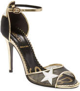 RED Valentino Women's Leather Stars High Heel Sandal