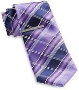 Gold Series Geometric Stripe Tie with Tie Bar Casual Male XL Big & Tall