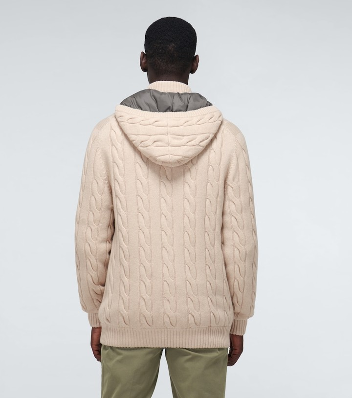 Thumbnail for your product : Brunello Cucinelli Cashmere cardigan with hood