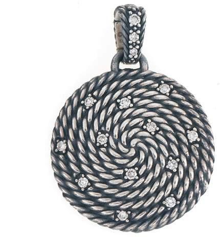 David Yurman Sterling Silver Cable Coil Diamond Pendant