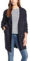 Tommy Hilfiger Women's 57664799 Reefer Long Sleeve Coat - blue - UK