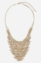 Topshop 'Metal V' Collar Necklace