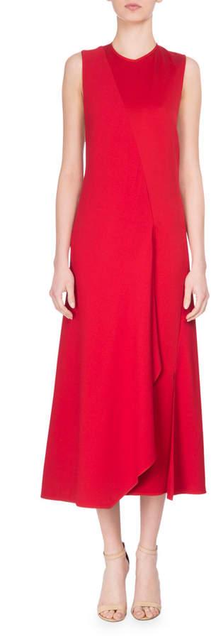 Victoria Beckham Bias-Cut Two-Tone Sleeveless Midi Dress