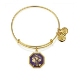 Alex and Ani February Violet Flower Bracelet