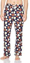 Original Penguin Men's Single Novelty Flannel Pant with Steak and Eggs Print
